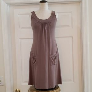 Athleta brown sleeveless dress